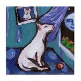 BULL TERRIER mesmorized by mo Tile Coaster