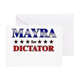 MAYRA for dictator Greeting Cards (Pk of 20)