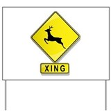 Deer XING Yard Sign