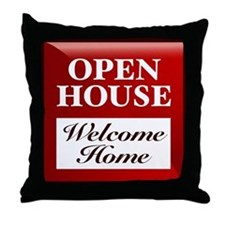 OPEN HOUSE (Welcome Home) Throw Pillow
