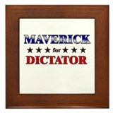 MAVERICK for dictator Framed Tile