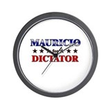 MAURICIO for dictator Wall Clock