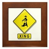 Chicken Farmer XING Framed Tile