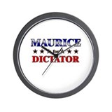 MAURICE for dictator Wall Clock