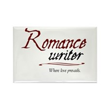 Romance Writer-Where Love Pre Rectangle Magnet (10