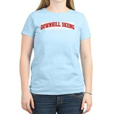 Downhill Skiing (red curve) T-Shirt