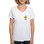 Bull Rider XING Women's V-Neck T-Shirt