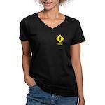 Bull Rider XING Women's V-Neck Dark T-Shirt