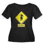 Bull Rider XING Women's Plus Size Scoop Neck Dark