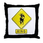 Bull Rider XING Throw Pillow