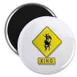 "Bull Rider XING 2.25"" Magnet (100 pack)"