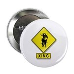 """Bull Rider XING 2.25"""" Button (100 pack)"""