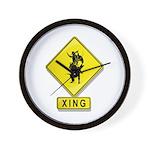 Bull Rider XING Wall Clock