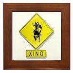 Bull Rider XING Framed Tile