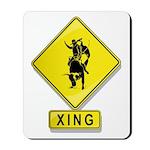 Bull Rider XING Mousepad