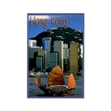 Hong Kong scenic souvenir magnet