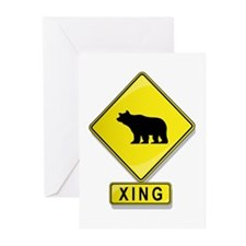 Bear XING Greeting Cards (Pk of 20)