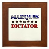 MARQUIS for dictator Framed Tile