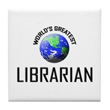 World's Greatest LIBRARIAN Tile Coaster