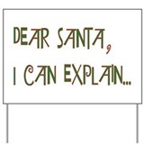 Dear Santa Yard Sign