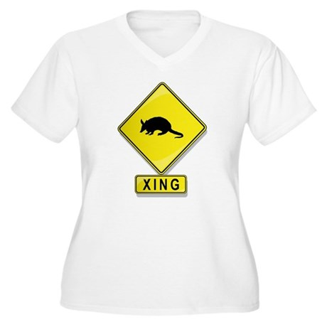 Armadillo XING Women's Plus Size V-Neck T-Shirt