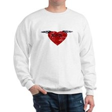 Vintage Tattoo Mom Heart Sweatshirt