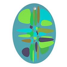 Retro Reminisce Keepsake Oval Ornament
