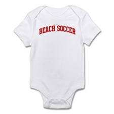 Beach Soccer (red curve) Infant Bodysuit