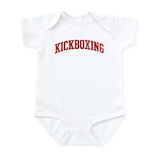 Kickboxing (red curve) Infant Bodysuit