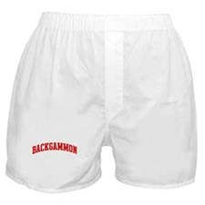 Backgammon (red curve) Boxer Shorts