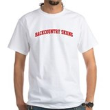 Backcountry Skiing (red curve Shirt