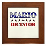MARIO for dictator Framed Tile