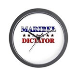 MARIBEL for dictator Wall Clock