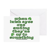 When Irish Eyes Are Smiling Joke Greeting Card