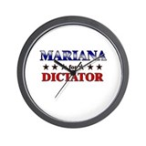 MARIANA for dictator Wall Clock