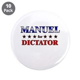 "MANUEL for dictator 3.5"" Button (10 pack)"