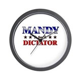 MANDY for dictator Wall Clock
