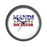 MANDI for dictator Wall Clock