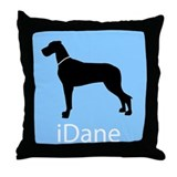iDane (Natural) Throw Pillow