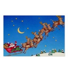 Santa & Reindeer Postcards (Package of 8)