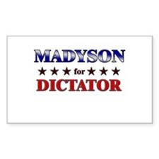 MADYSON for dictator Rectangle Decal