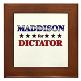 MADDISON for dictator Framed Tile