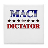 MACI for dictator Tile Coaster