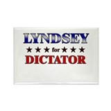 LYNDSEY for dictator Rectangle Magnet (10 pack)