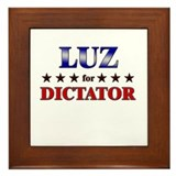 LUZ for dictator Framed Tile