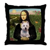 Mona / Westie Throw Pillow
