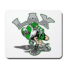 Lacrosse Player Green Uniform Mousepad