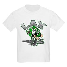 Lacrosse Player Green Uniform T-Shirt