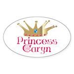 Princess Caryn Oval Sticker
