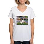 Lilies / Toy Fox T Women's V-Neck T-Shirt